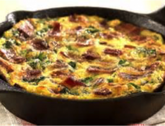 Cast Iron Maple Bacon Frittata
